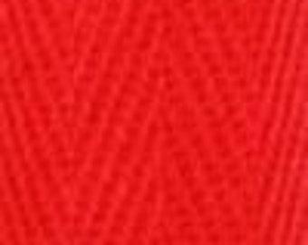 Polyester Webbing/Herringbone Tape 25 mm (2 metre lengths): Red