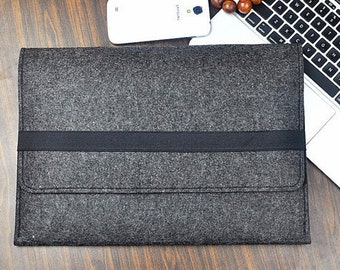 Surface Pro 4 case, Surface Pro3 sleeve , Surface Pro 5 case, Felt laptop case , Microsoft Surface case, Grey bag, Surface Pro cover, A446