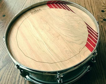 Striped Forest King Wooden Drumheads by Index Drums