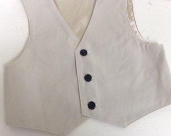 Boys vest, oatmeal boys VEST, wedding vest for boys, ring bearer vest, photo prop for boys