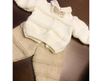 Complete newborn sweater and trousers gift for newborn