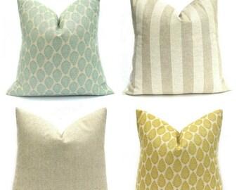 15% Off Sale Throw Pillow Cover. Blue Pillow, Yellow Pillow, Damask Pillow, Accent Pillow, Decorative Pillow, Tan Pillow, Pillows, Blue Pill