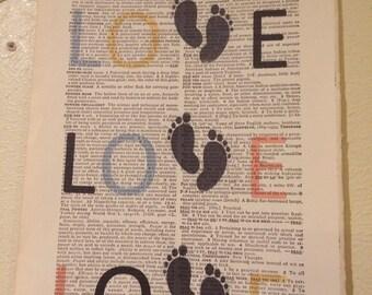 New baby LOVE book art