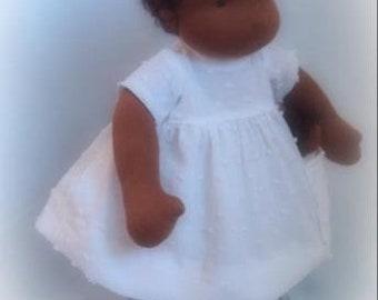 zonnekind pop waldorf doll waldorfdoll donker organic steiner antroposofische