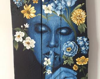 """Painting """"A fleur de peau"""""""