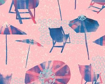 Sunnyside Beaches on pink from Windham Fabrics, yard