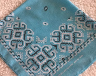 Square Turquoise Bandana Made in the USA