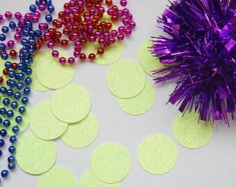Bright Yellow Glitter Confetti, Yellow Confetti, Glitter Circle Confetti, Party Decorations, Party Decor, Wedding Decor, Birthday Party