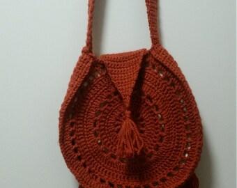 Burnt orange bohemian bag