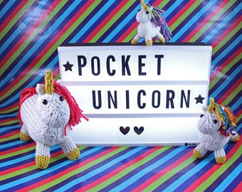 Wicked Chickens Yarn Wickedly Magical Pocket Unicorn Knitting Pattern Instant Download PDF