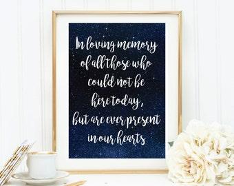 Wedding Family Memory Print