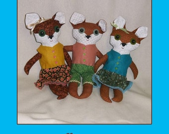 Fox Doll Pattern  - PDF epattern Tutorial