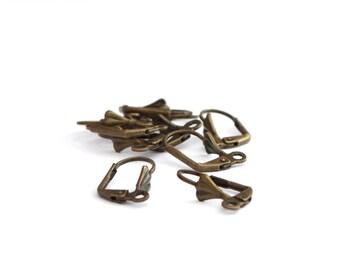 10 earrings antique bronze Stud Earrings