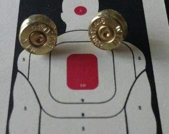 Brass earrings, 9mm