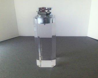 Midcentury Modern Lucite Tall Cigarette Lighter