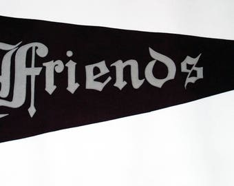Genuine Vintage Sewn Letters Friends School Baltimore 1930s-'50s era — Free Shipping!