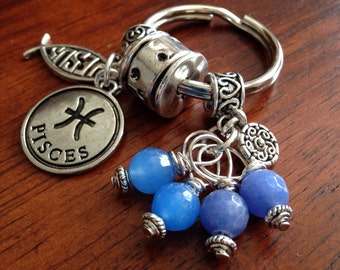 Keychain, Key Chain, Christian Keychain, Pisces Keychain, Peace Sign Keychain, Horoscope Keychain, Astrology Keychain, Yoga Keychain