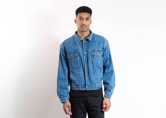 Cooper Lee Removable Jacket Arms Vintage Denim Up Jean Button Coat Winter Vest HqwIwtf