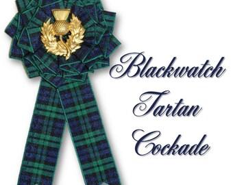 Blackwatch Tartan Cockade