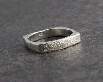 Wedding Band Ring, Silver Band Ring, Handmade Ring, Wedding Band, Engagement Ring, Men and Women Ring, Statement Ring