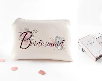 Custom bridesmaid cosmetic bag Bachelorette party gift Custom bachelorette gift Personalized bachelorette party gift Bachelorette gift bags