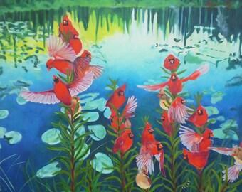 On Papal Pond (Cardinalflower)
