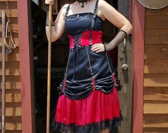 Steampunk Cincher Chainup Dress