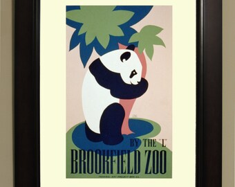 Brookfield Zoo WPA Poster - 3 sizes available, one price.
