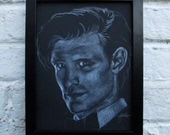 A3 Doctor Who / Matt Smith Giclee print