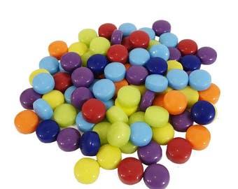 """Dots Mosaic Glass 1/4"""" Mix"""