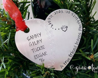 Personalized Pet Ornament, Dog Christmas Ornament, Cat Ornament, Pet Memorial Ornament, Pet Loss Gift, Dog Mom, Cat Mom, Animal Lover Gift