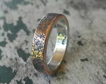 Manly wedding band Etsy