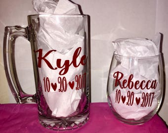 His & Hers Personalized Cups