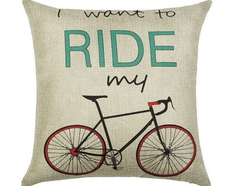 Bike Pillow Cover