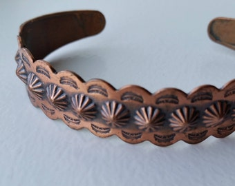 Bell Trading Solid Copper Cuff Bracelet with Southwestern Style