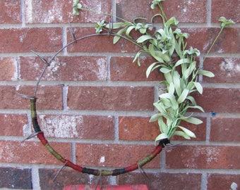 Iron Wreath, Yarn Wreath, Flowery Wreath, Fall Wreath, Fall Door Decor, Boho Wall Decor, Boho Wreath, Farmhouse Wreath, Iron Wall Wreath
