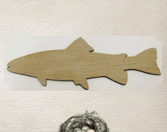 Fish (Large ) Wood Cut Out -  Laser Cut