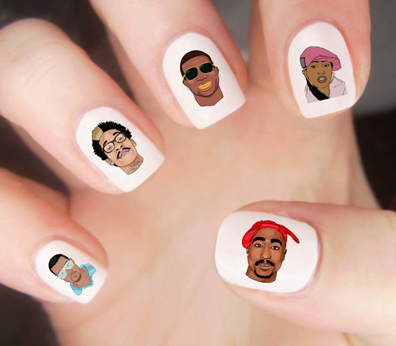 Rappers Nagel Decal Hip Hop Nail Stickers Tupac Nail
