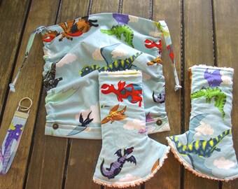 NEW handmade Ollie Basic Flat Hood Reach Straps Corner Drool Pads Key Fob Keychain Wristler Dragon Monkey's Bizness Purple Seamfoam Green