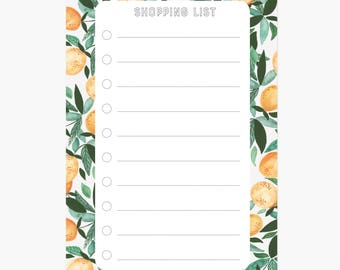 shopping list, grocery notepad, small notepad, small list pad