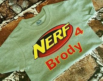 Nerf birthday shirt customized shirt customized onesie  nerf shirt