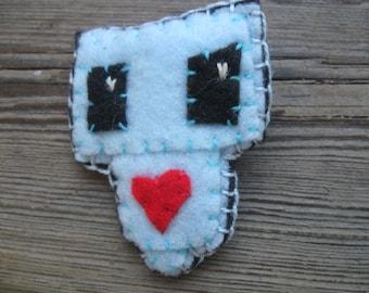 ROBOT Love PIN felt brooch