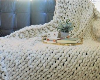 Chunky Knit Blanket/Throw