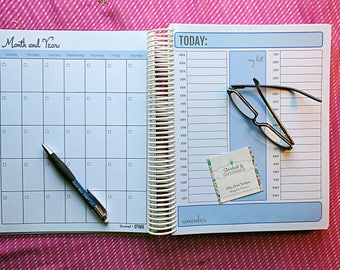 TIMELESS: Personalized Handmade Undated Monthly, Weekly, and/or Daily Planner, Calendar, Agenda, Organizer with Free Shipping
