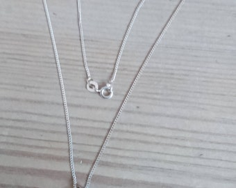 Vintage sterling silver Pearl drop pendant and chain