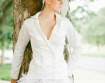 Kaylee Bridal jacket  & Cleo Feather Skirt