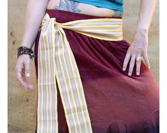 Pastel Yellow Sash, SA22 - Ethnic Belt - Gypsy Clothing - Guatemalan Fabric - Bohemian Sash - Woven Sash Belt - Woven Sash