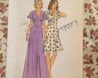 Vintage Unused/Uncut 1970s Fit & Flare Dress Sewing Pattern - Butterick #3731 -- size 12 -- 34/26.5/36
