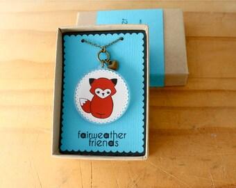 Fox Necklace. Animal Pendant, Laser Cut Acrylic, Red Fox Charm, Vixen Jewelry, Animal Lovers, Fox Pendant, Acrylic Necklace, Cute Fox Charm
