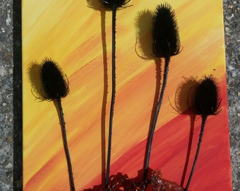 Teasels with seaweed